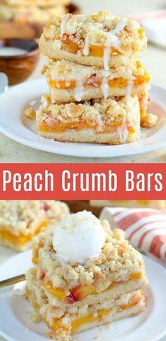 Mini Desserts, Easy Desserts, Delicious Desserts, Best Summer Desserts, Summer Dessert Recipes, Peach Dessert Recipe, Dessert With Peaches, Easy Peach Dessert, Light Summer Desserts