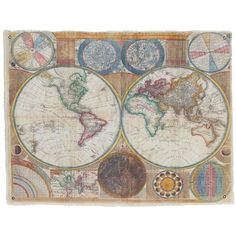 Keane Canvas Yellow Terraqueous Map (455 SEK) ❤ liked on Polyvore featuring home, home decor, wall art, yellow home decor, map home decor, map canvas wall art, map globe and yellow canvas wall art