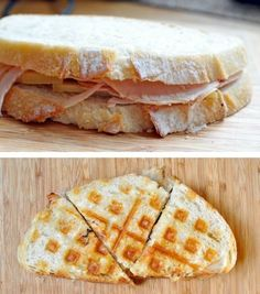 If you love food, this list is for you. Who knew you could make so many tasty treats using your waffle iron. Breakfast And Brunch, Waffles, Waffle Maker Recipes, Waffle Sandwich, Waffle Waffle, Foods With Iron, Tasty, Yummy Food, Food Hacks