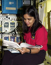Kalpana Chawla, first Indian-born woman in space. Her second shuttle flight was Discovery, STS-107. 1961-2003