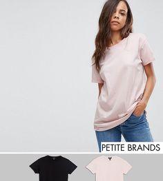 New Look Petite 2 Pack Boyfriend Tee - Beige