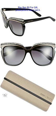 ff0a409ddcfd Jimmy Choo ○ Retro crystal-encrusted Sunglasses Women's Fashion, Fashion  Tips, Fashion Trends