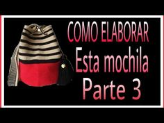 COMO HACER MOCHILA WAYUU //*PARTE 3* - YouTube Mochila Crochet, Drawstring Backpack, Tapestry, Backpacks, Crocheted Bags, Pattern, Macrame, Youtube, Bag