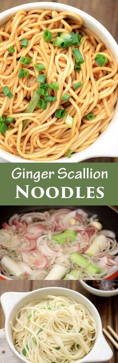 Ginger Scallion Noodles ChinaSichuanFood.com