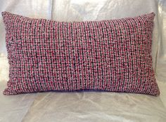 Wool pillowsdecorative pillowsplaid pillowredblack by feltyhome