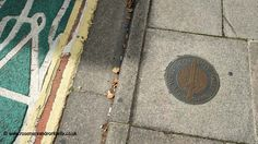 City walls trail marker - Chichester West Sussex