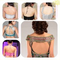 Different styles of blouse backs