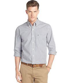 Izod Cane Bay Small-Plaid Shirt