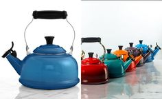 Le Creuset Classic Enamel on Steel 1.7 Qt. Whistling Tea Kettle - Cookware & Cookware Sets - Kitchen - Macy's