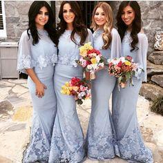 mermaid bridesmaid dress ,elegant bridesmaid dress,long bridesmaid
