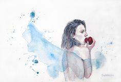Disobedience by ericadalmaso on DeviantArt Deviantart, Watercolor, Illustration, Painting, Inspiration, Artworks, Instagram, Pen And Wash, Biblical Inspiration