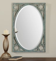 Uttermost Anjelica Oval Mirror Designer:Grace Feyock Dimensions:22 W X 32 H X 1 D (in) Weight (lbs):29 Ship Via UPS:No UPC Number:792977128725