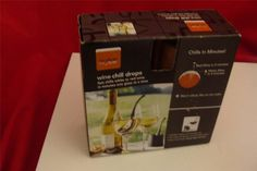 SKYBAR WINE CHILL DROPS SET OF 2 WON'T DILUTE YOUR WINE OR CHAMPAGNE #Skybar