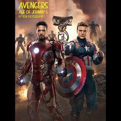 Avengers - Age of Johnny 5 #avengersageofultron #photoshop #robertdowneyjr #chrisevans #marvel