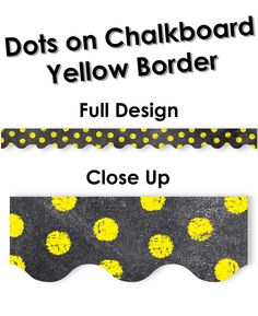 """Add excitement to bulletin boards or windows with this unique border! 2 ¼"""" wide 35 feet per package Creative Teaching Press, Chalk It Up, School Themes, Bulletin Boards, Teaching Ideas, Chalkboard, Dots, Classroom, Windows"""