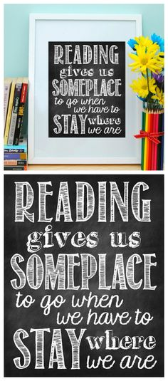 Reading Gives Us Someplace to Go - Free Printable