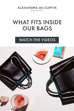 Are you looking for a designer leather handbag? Click through to watch our videos and see what fits inside our leather handbags! Alexandra de Curtis #italianhandbags