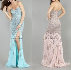 Luxurious #fishtail floor-length #evening #dress #womens #fashion #party #ball #gown #coniefox #2016prom