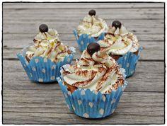 Místo hlavy CUPCAKE: Tiramisu cupcakes Tiramisu Cupcakes, Cheesecake, Food And Drink, Pudding, Cookies, Desserts, Gardening, Anna, Blog