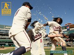 Oakland Oaks for a day! With walk-off pie.