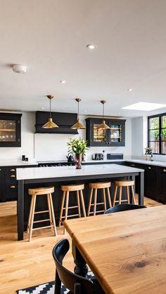 Home Decor Kitchen .Home Decor Kitchen Open Plan Kitchen Dining Living, Living Room Kitchen, Home Decor Kitchen, Home Kitchens, Family Kitchen, Kitchen Ideas, Dream Kitchens, Black Kitchens, Modern Kitchen Design