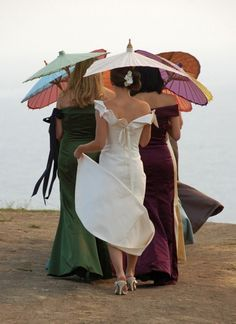 I am going to an English Garden wedding in June and just received my parasol. How gorgeous these ladies look.