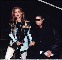 Brooke Shields Michael Jackson - she has a bad era look too!