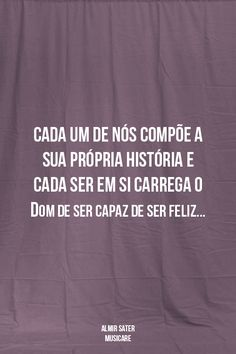 De ser capaz! De ser feliz!