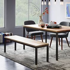 Box Frame Dining Table - Wood