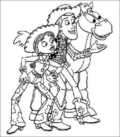 Toy Story Woody Wears A Hat Coloring Page | Coloring pages ...