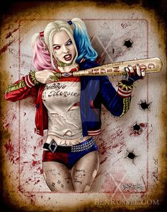 Harley Quinn, Suicide Squad Pinup by Ben Russel by Russel510 on DeviantArt