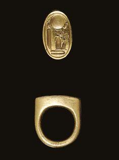 AN EGYPTIAN GOLD STIRRUP RING NEW KINGDOM, DYNASTY XVIII, REIGN OF AKHENATEN, 1353-1335 B.C. | Christie's