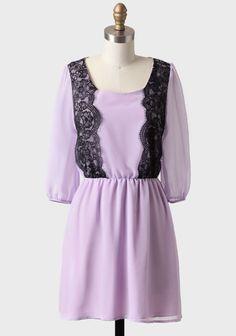 Paris Streets Lace Detail Dress