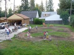 Backyard Pump Track - I think we HAVE to do this!!!