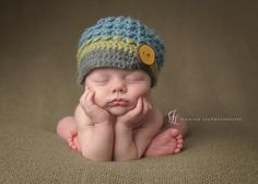 Multi Colored Brim Hat - Newborn Photography Prop