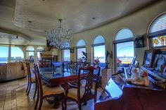 Dining Room House Blue Ocean Theme Oceanside CA