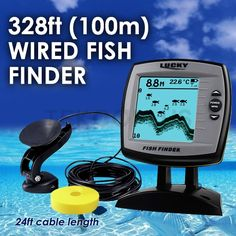 (111.38$)  Buy here - http://ai6o0.worlditems.win/all/product.php?id=32803341370 - FF-918N1 LUCKY Fish Finder Depth Sounder Transducer 328feet(100m) with 4-level Grayscale FSTN LCD Fish Detector