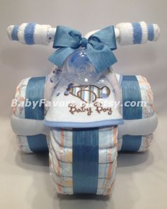 Tricycle Diaper Cake in Many Colors - Great gift or centerpiece for Baby Shower via Etsy