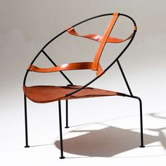 Amazing Lounge Chair by Flavio de Carvalho | From a unique collection of antique and modern chairs at http://www.1stdibs.com/furniture/seating/chairs/