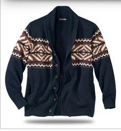Gilet veste tricot jacquard à -70%