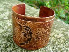 Mehndi art cuff - copper #bracelet #copper cuffs #accessories #jewelry