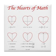 Heart Curves Tile Coaster by Math Threads CafePress is part of Math formulas - Shop Heart Curves Tile Coaster designed by Math Threads Lots of different size and color combinations to choose from ✓Free Returns ✓High Quality Printing ✓Fast Shipping Math Teacher, Math Classroom, Teaching Math, I Love Math, Fun Math, Iq Puzzle, Math Quotes, Math Formulas, Math Humor