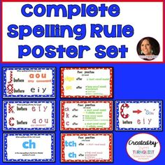 """Are you completely satisfied with your spelling curriculum?  Are your students """"Friday Spellers""""?  Do they make 100's on their spelling tests on Friday and on Monday they have forgotten how to spell those words?  I have designed colorful and helpful phonics spelling rules charts for use in your classroom or for homeschool use."""
