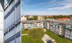 De båda fastigheterna på Grönalundsgatan i Limhamn Malmö byggdes 1958 och var i behov av renovering. I första hand ville fastighetsägaren renovera fönstren i de sammanlagt 54 lägenheterna. När Windoor kom in i bilden blev det en helhetslösning där även balkongerna glasades in.