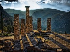 Located on the Island of Delphi, this is believed to be the most powerful and important oracle of ancient Greece, Apollo. Temple of Apollo, Delphi by Ian@NZFlickr, via Flickr