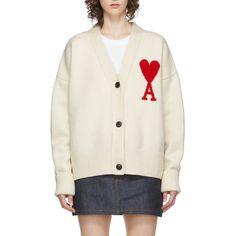 AMI Alexandre Mattiussi Ami De Coeur Oversize Cardigan Cashmere Coat, Oversized Cardigan, Winter Looks, Signature Logo, Winter Wardrobe, Merino Wool, Knitwear, How To Wear, Fashion Design
