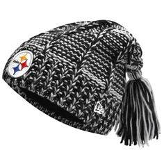 New Era Pittsburgh Steelers Ladies Winter Slouch Knit Hat - Black