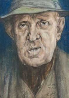 Austin Osman Spare, Portrait of a man, 1953