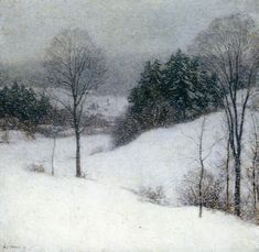 """The White Veil,"" Willard Metcalf (1909) - Detroit Institute of Arts"