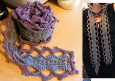 crochet this scarf.... found the pattern here http://www.knittinghelp.com/forum/showthread.php?p=927415